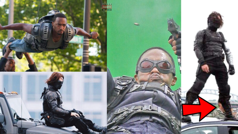 Anthony Mackie And Sebastian Stan Doing Stunts