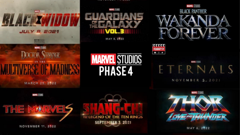 Marvel Phase 4 Release Dates