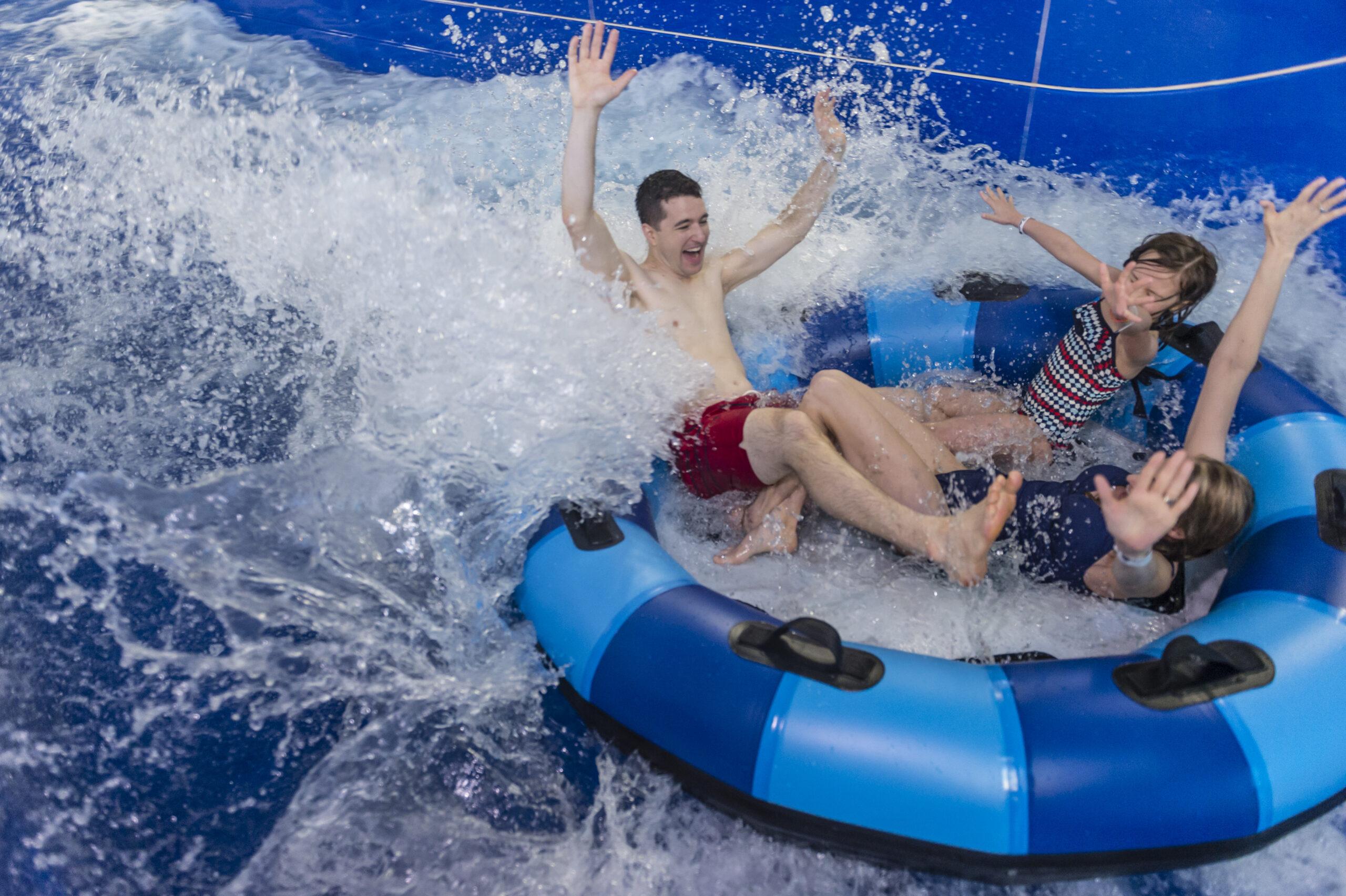Kids enjoy an inner tube ride at Kalahari Resort, Pennsylvania
