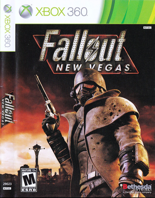 Fallout New Vegas XBox 360 Cover
