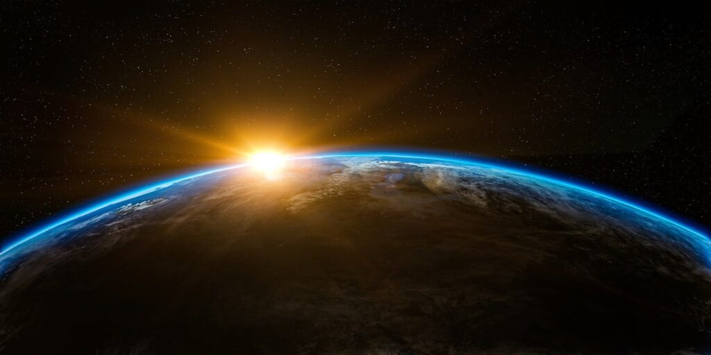 earth space and sunrise gtg
