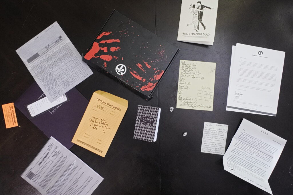 Contents of Hunt a Killer Episode One of Curtain Call