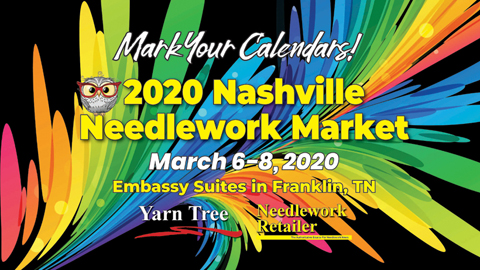 The 2020 Nashville Needlework Market logo