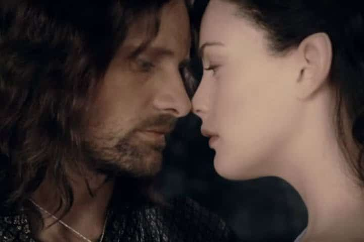 Arwen and Aragorn from the Fellowship of the Rings