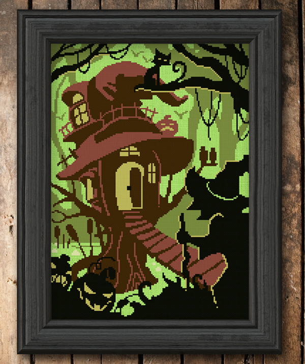A brown hag's hut sits perched in a bpg while the wicked swamp hag approaches