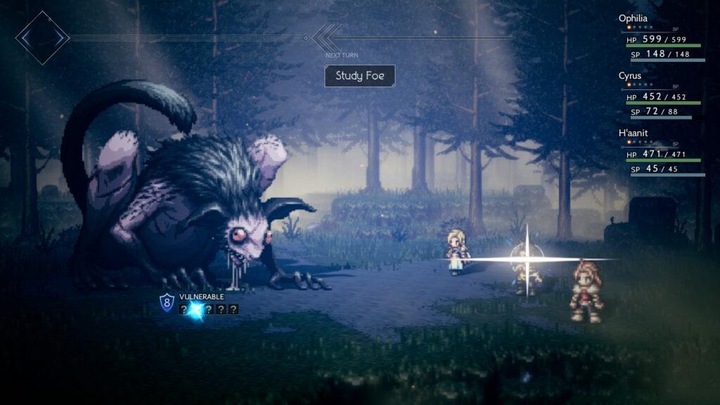 Screenshot of Octopath Traveler