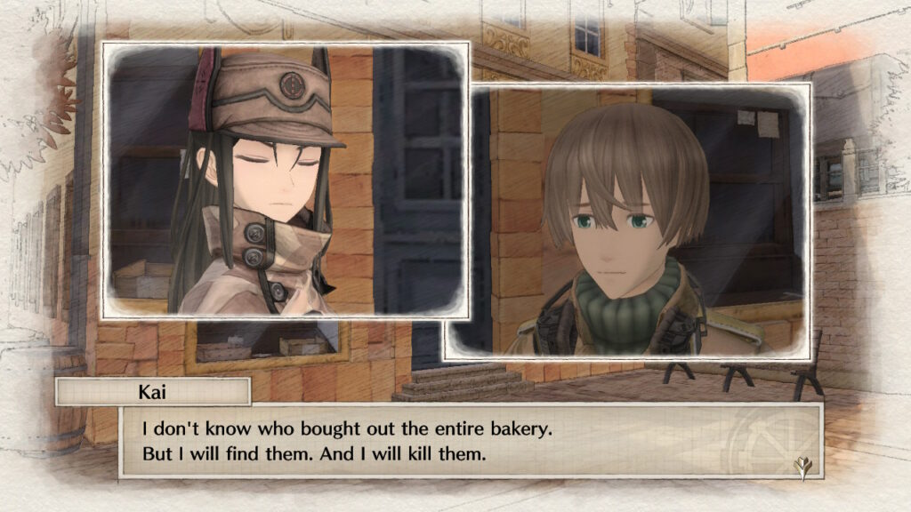 Screenshot of Valkyria Chronicles 4