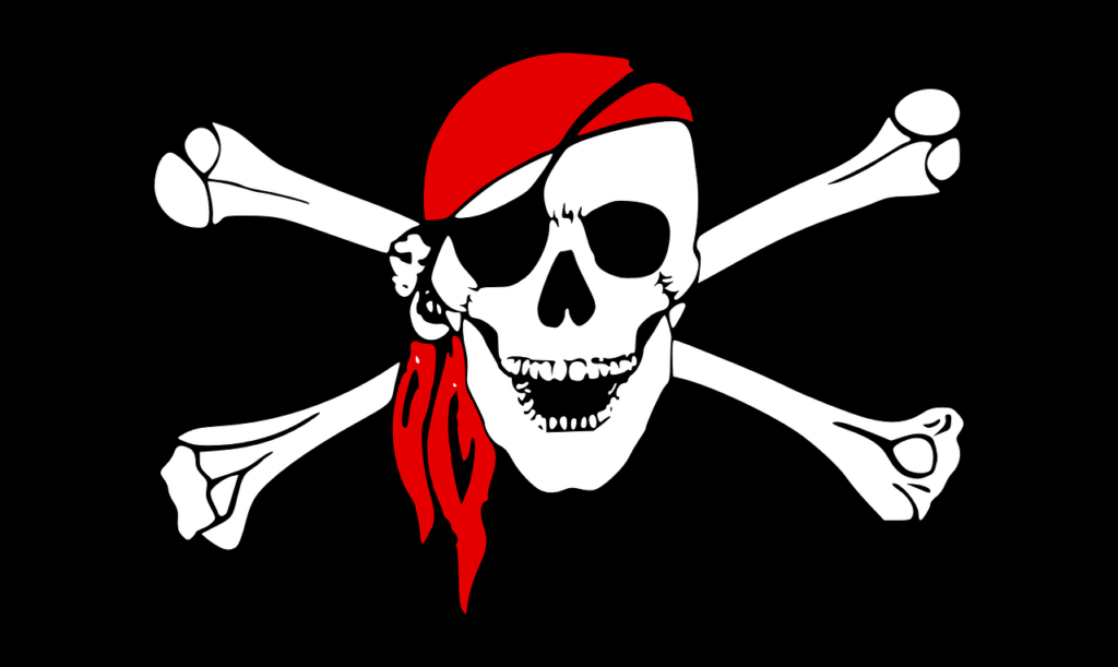 A pirate skull and crossbones