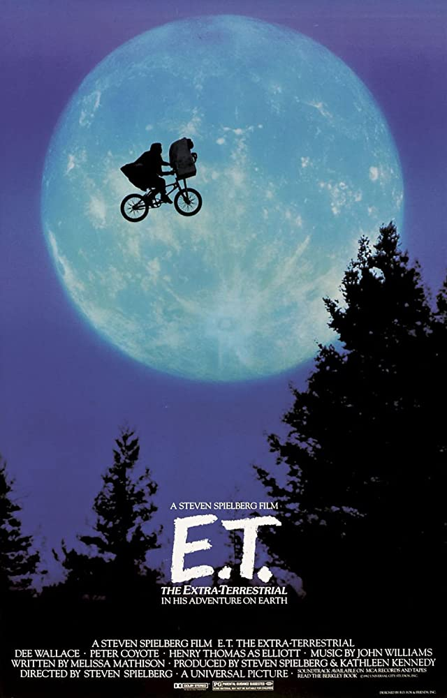 E.T. extra terrestrial movie promo poster