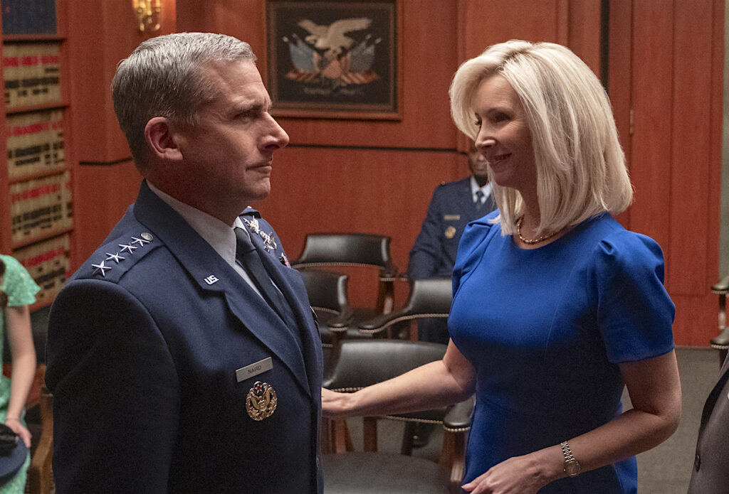 Lisa Kudrow and Steve Carell on Netflix's Space Force