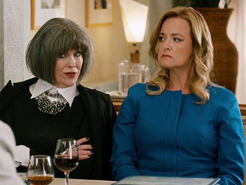 Moira with funny wig Schitt's Creek