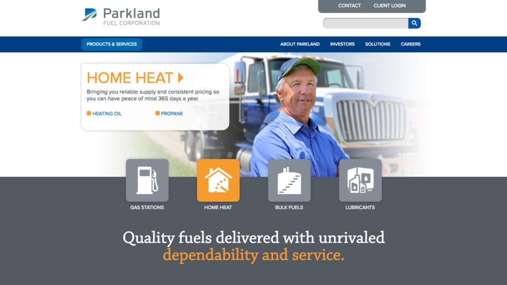 SEO Optimization: Parkland Fuels Website