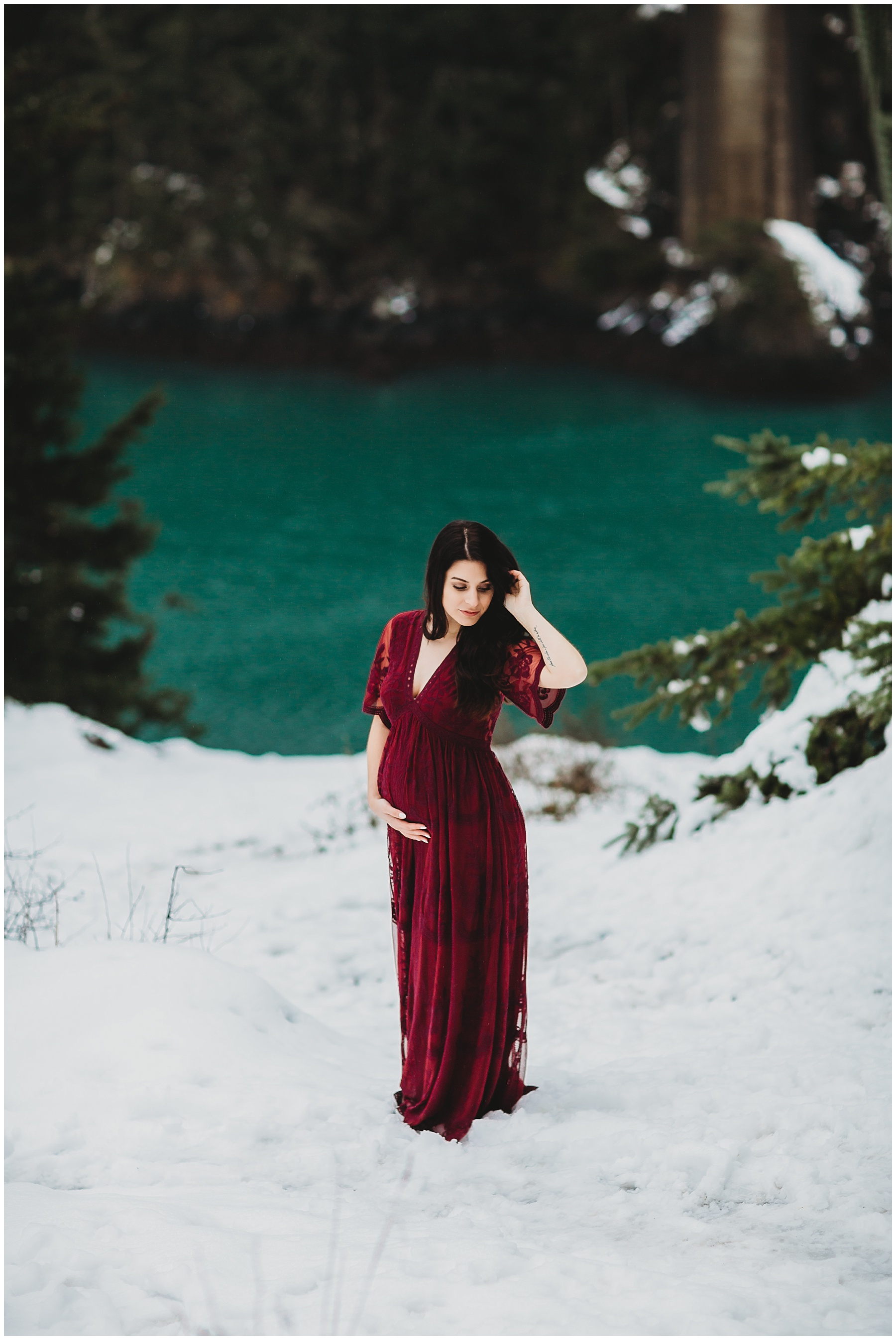 Boho maternity session at deception pass