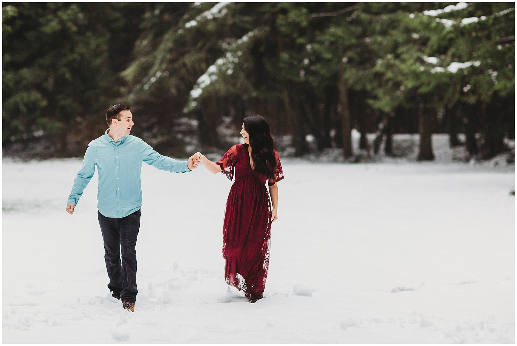 Whidbey Island snow maternity session