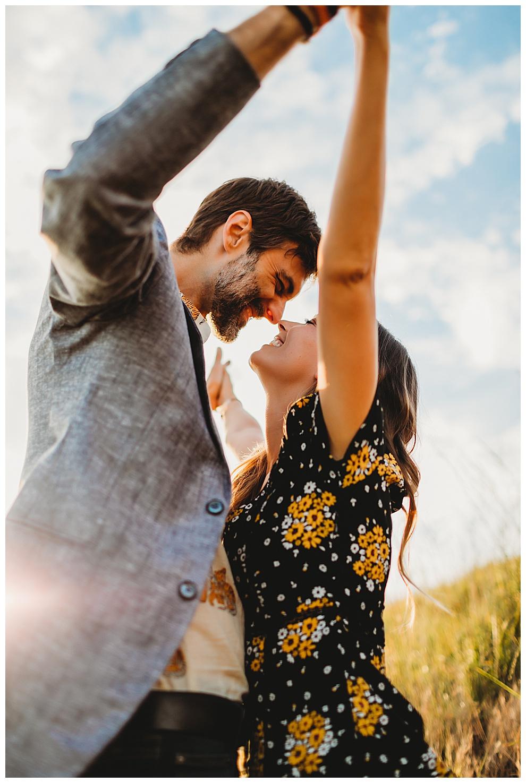 couple dancing outside on Washington island