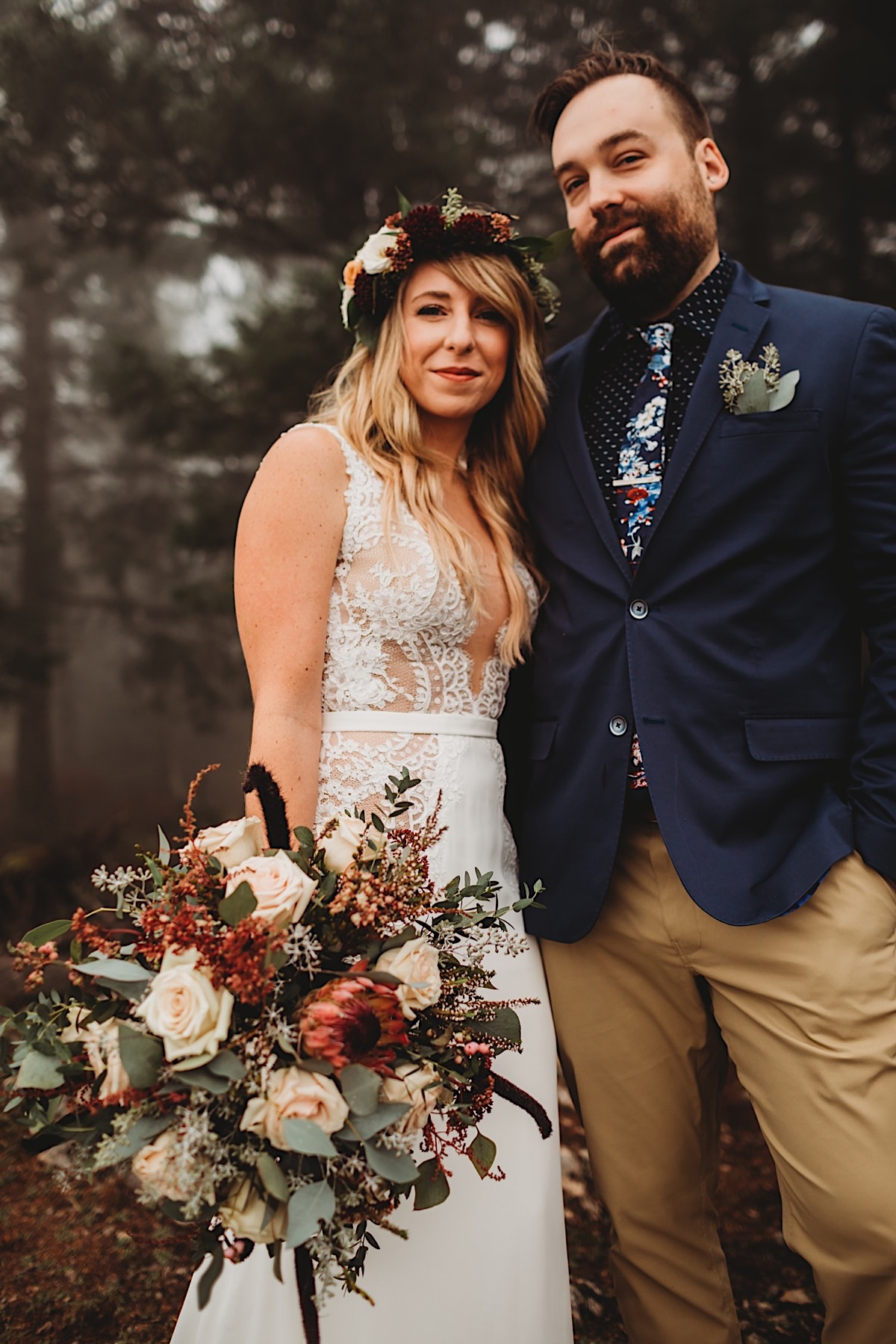 Misty Orcas Island elopement on San Juan islands