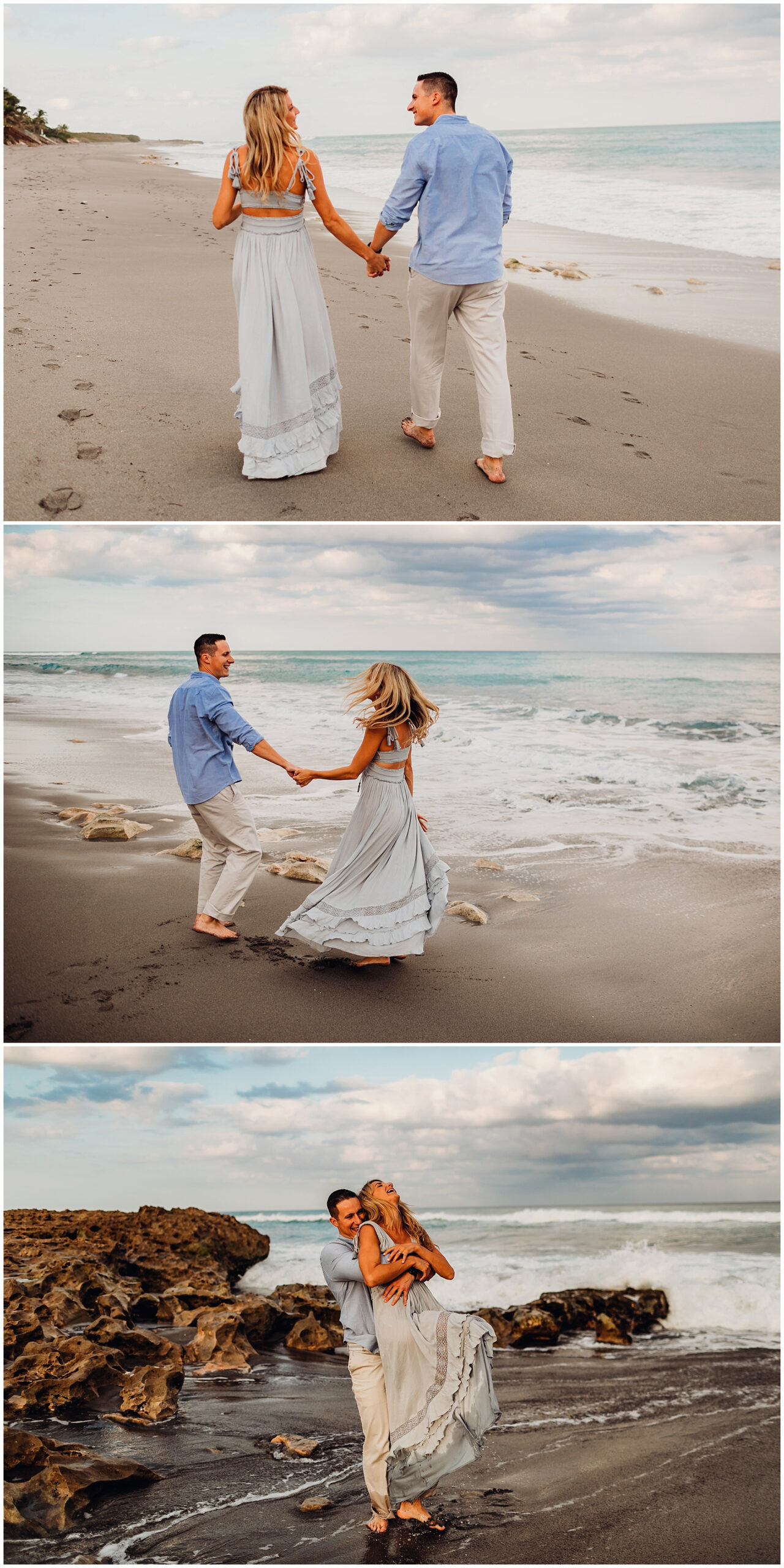 sunset engagement session in Jupiter