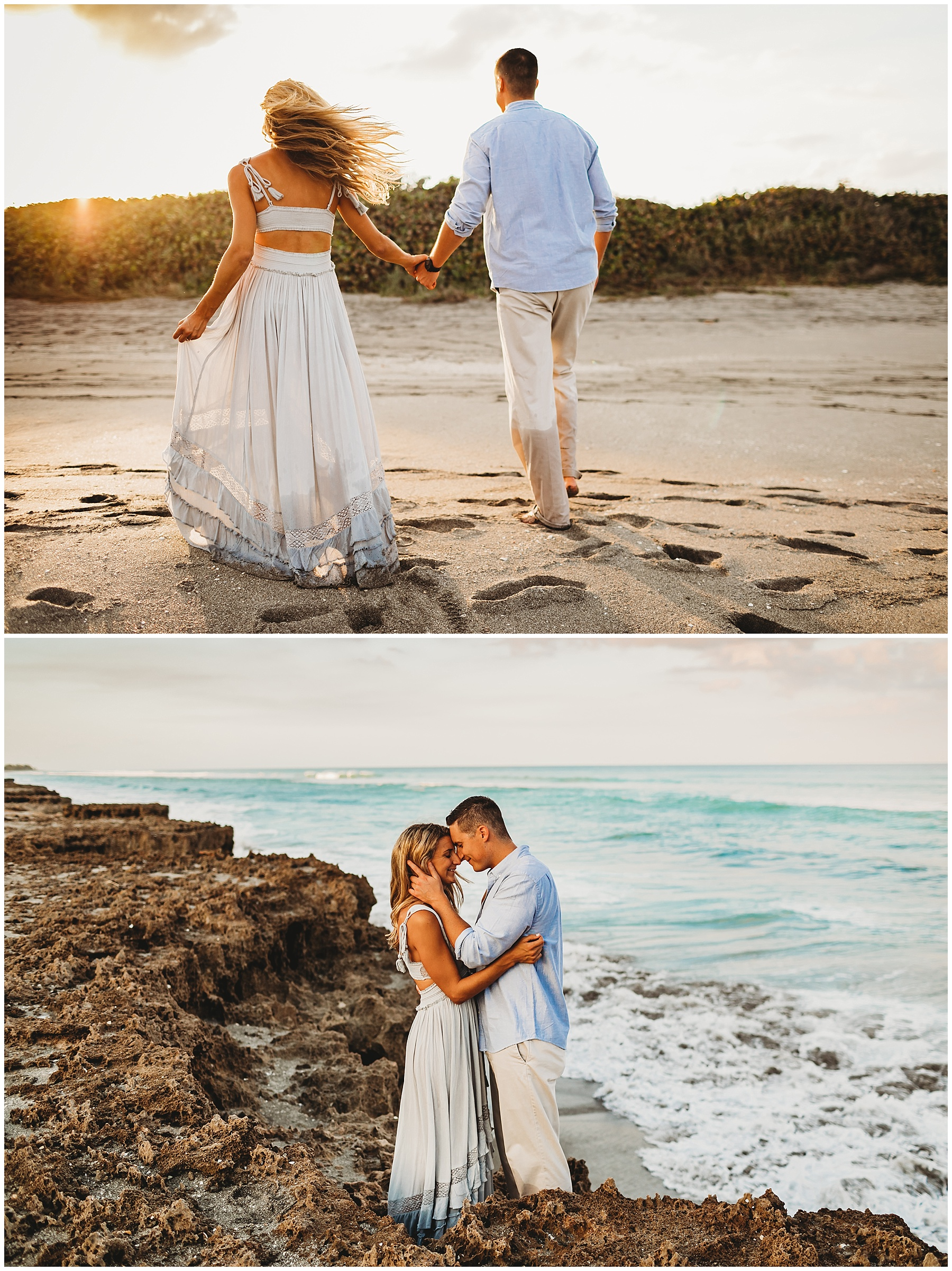 Sunset engagement in Jupiter