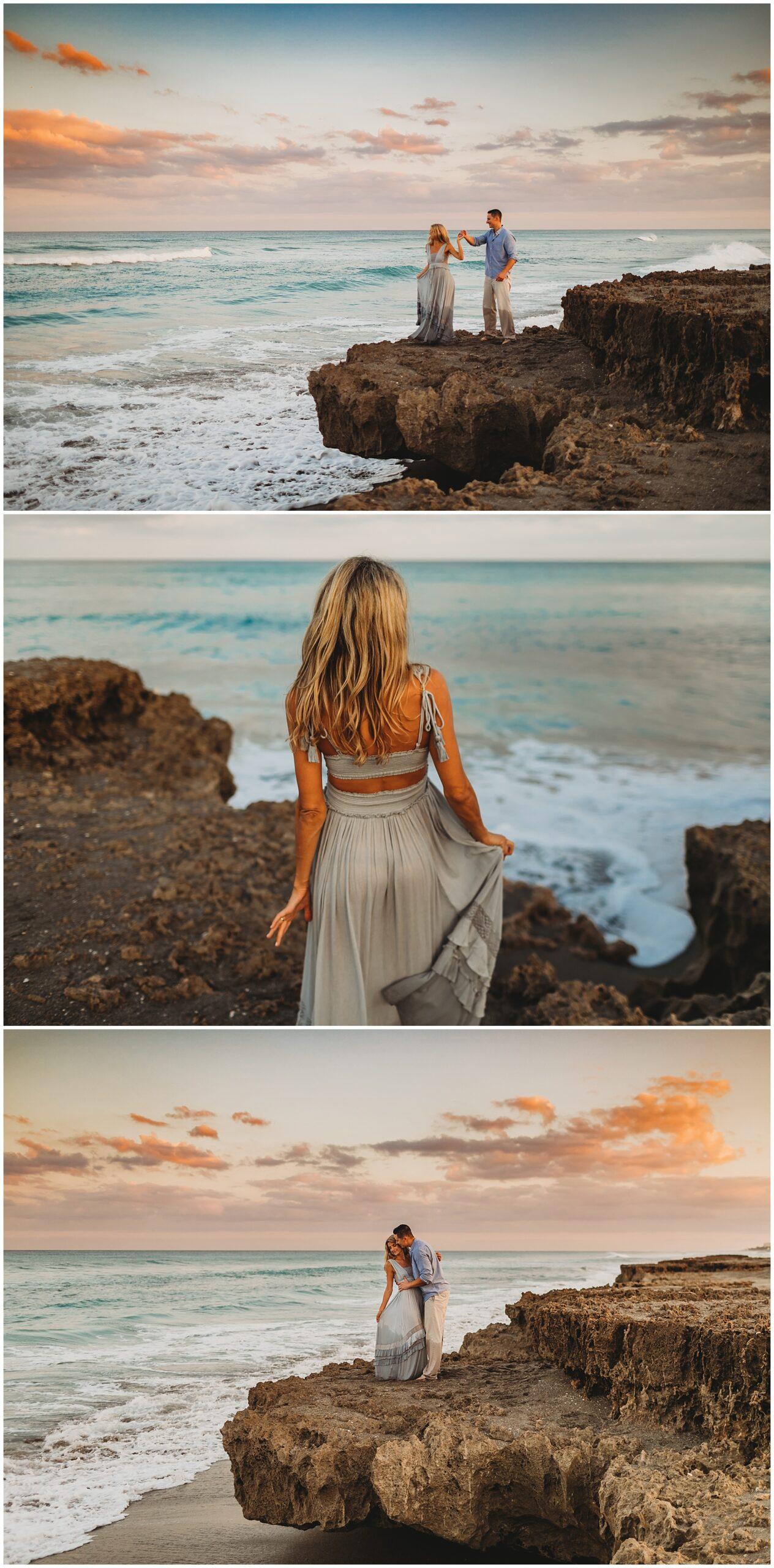 Engagement portraits Jupiter Beach