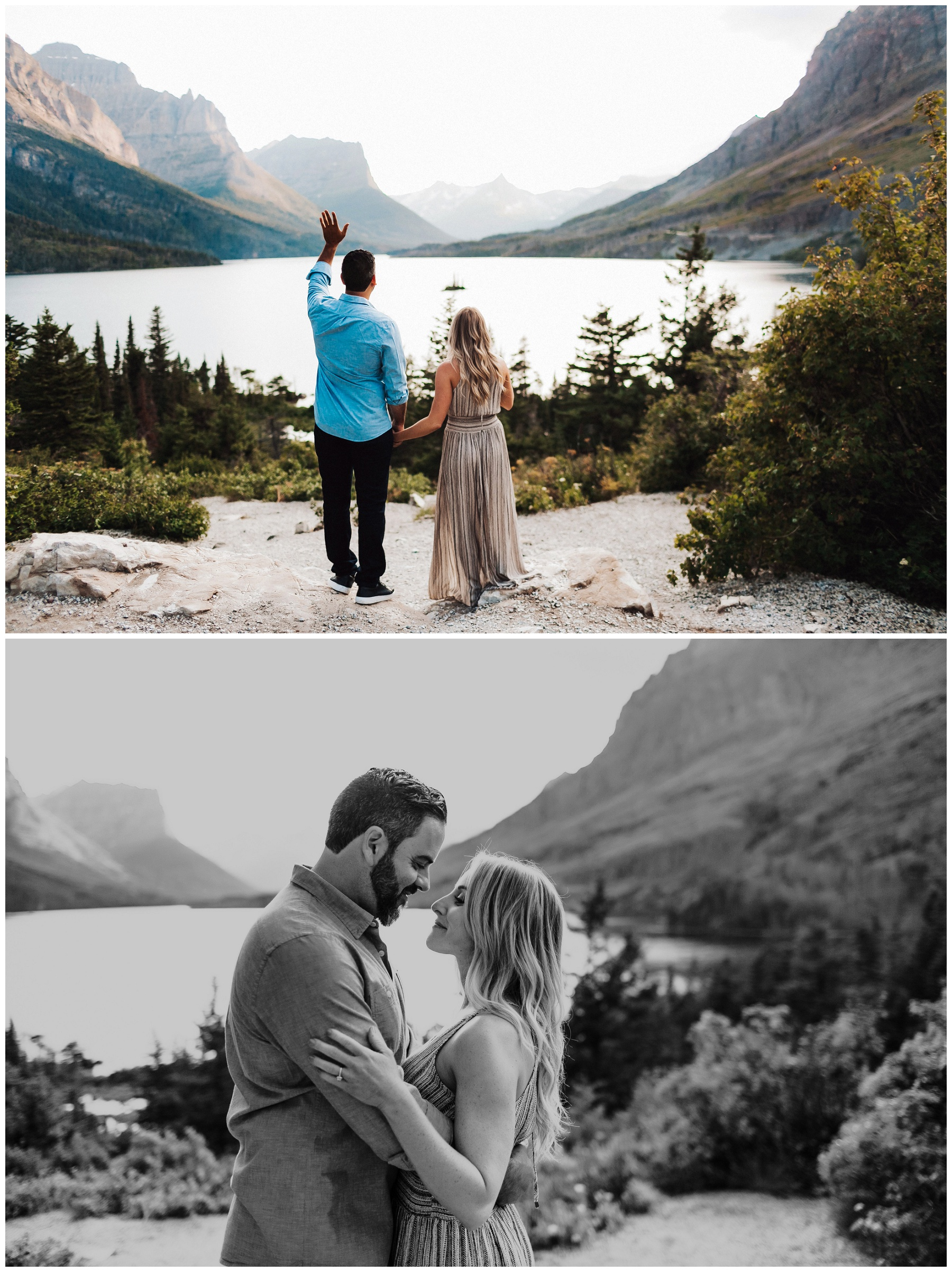 couple portraits by the lake