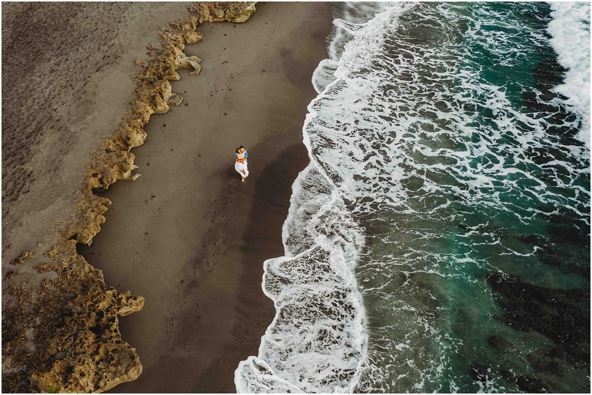 Drone image from Jupiter Engagement Session