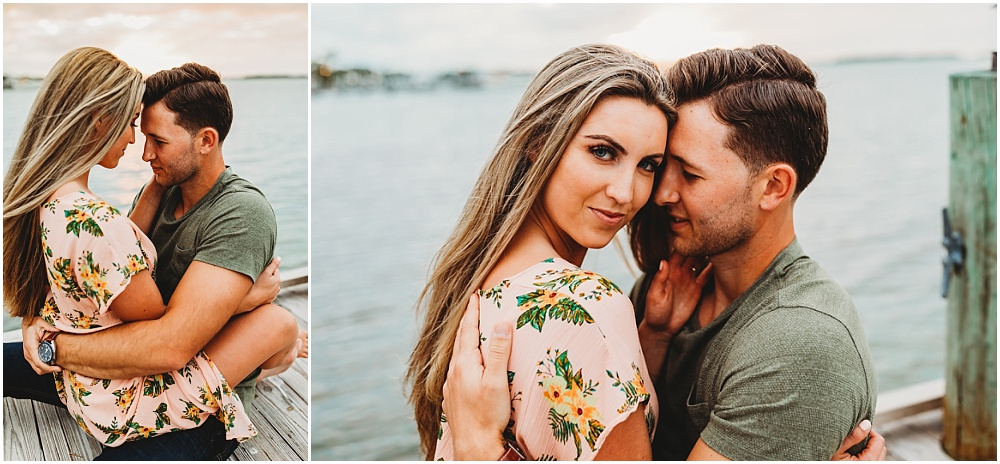 Engagement portraits of couple