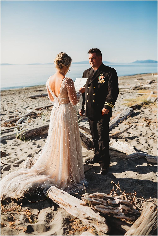 Bride reads vows