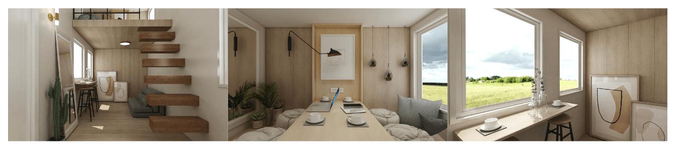 Nordic loft interior design.