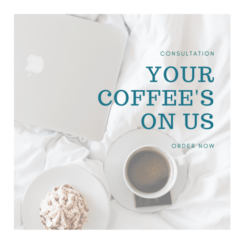 Interior design consultation over coffee.