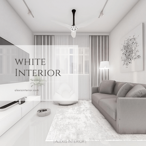 white interior feature