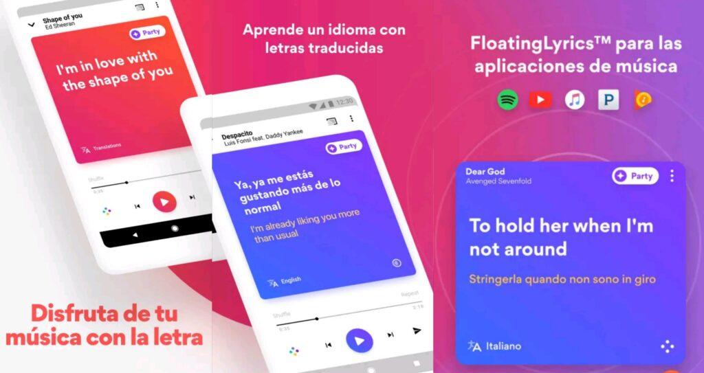 Ademas de ver la letra de tus canciones esta app cuenta con temas increíbles.