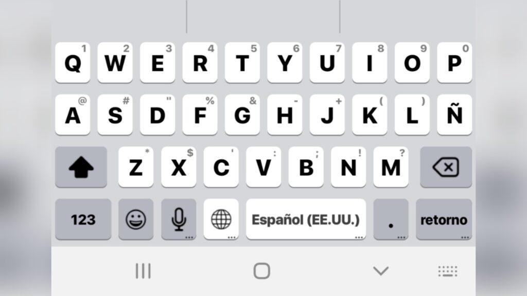 Teclado de iphone para android Con Emojis y Sonido en Español