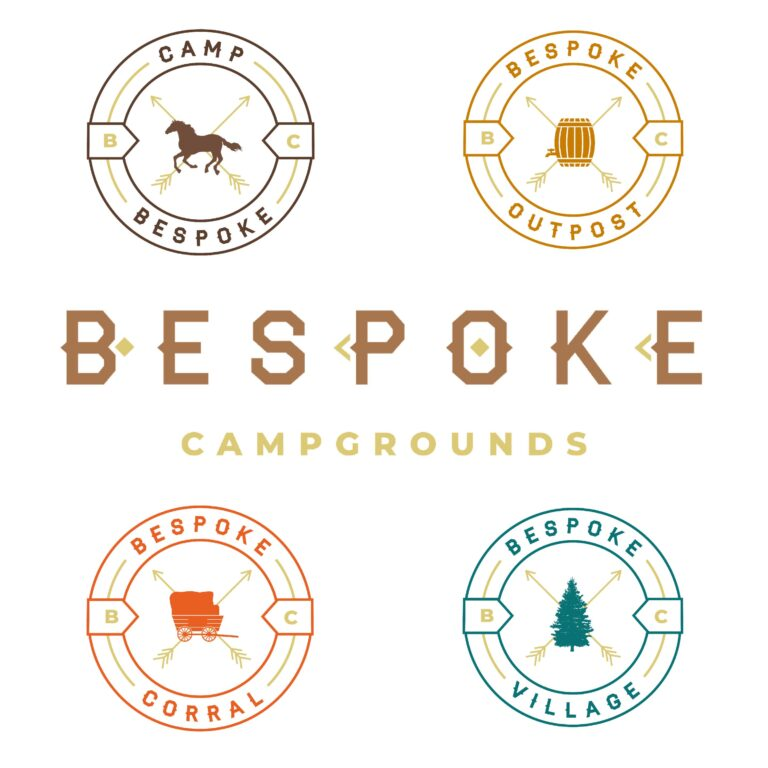 Bespoke Campgrounds Five Brands Logos