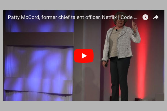 Video Of The Week: Patty McCord on Rethinking How We Manage People