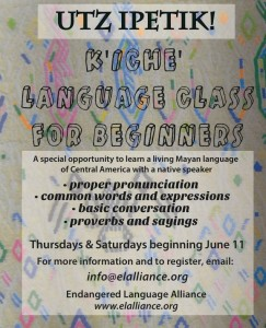 K'iche' Class Flyer