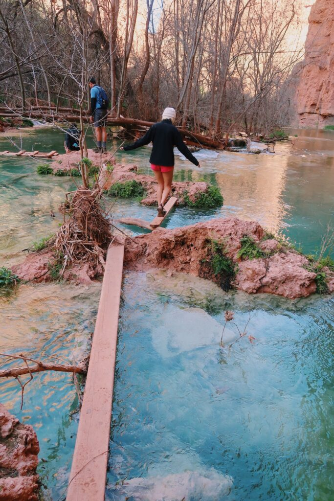 Hiking to Beaver Falls in Havasupai