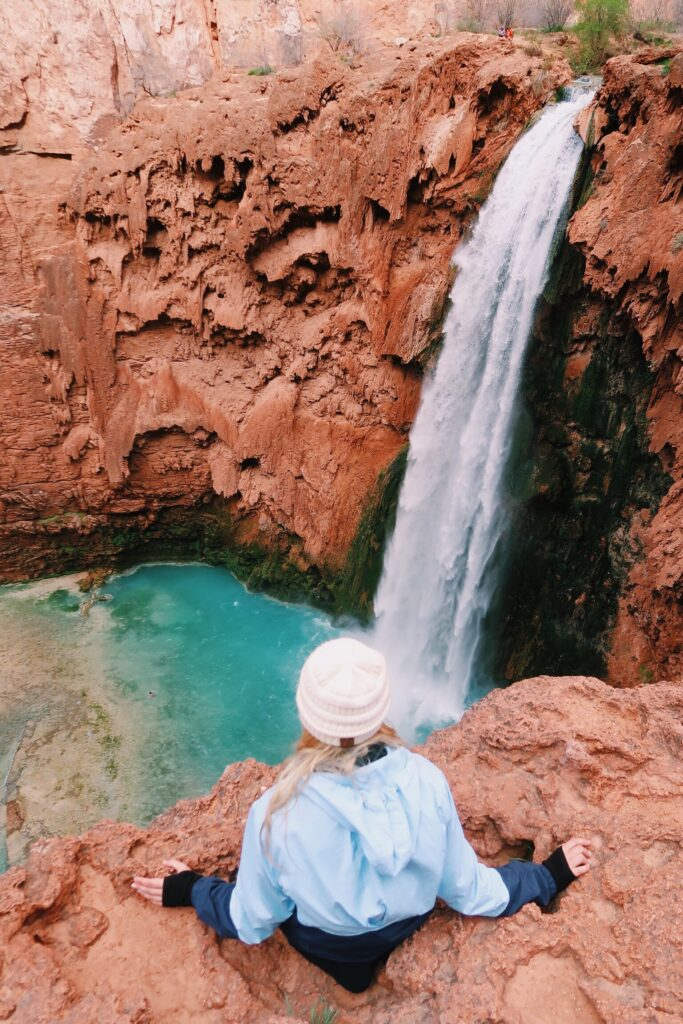 Couple's Havasupai Backpacking Guide to Mooney Falls