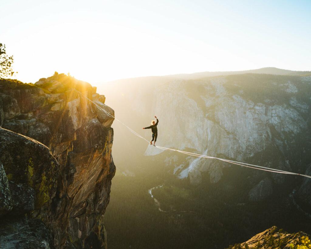 Highlining at Yosemite National Park