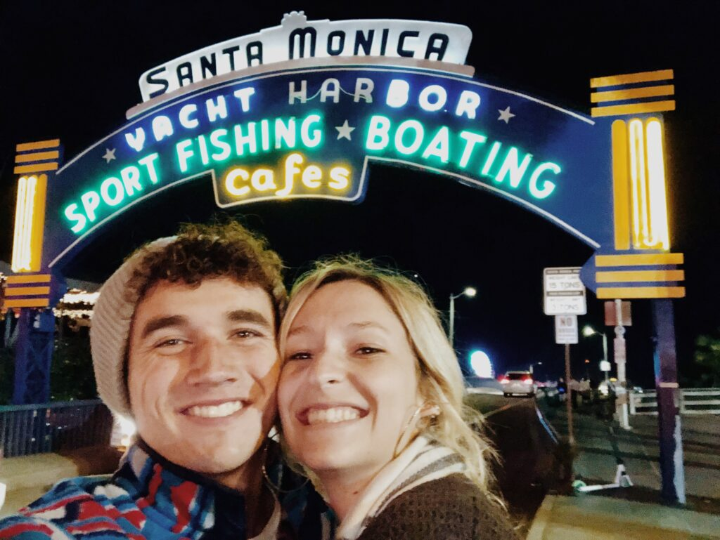 Santa Monica Pier Date in Los Angeles