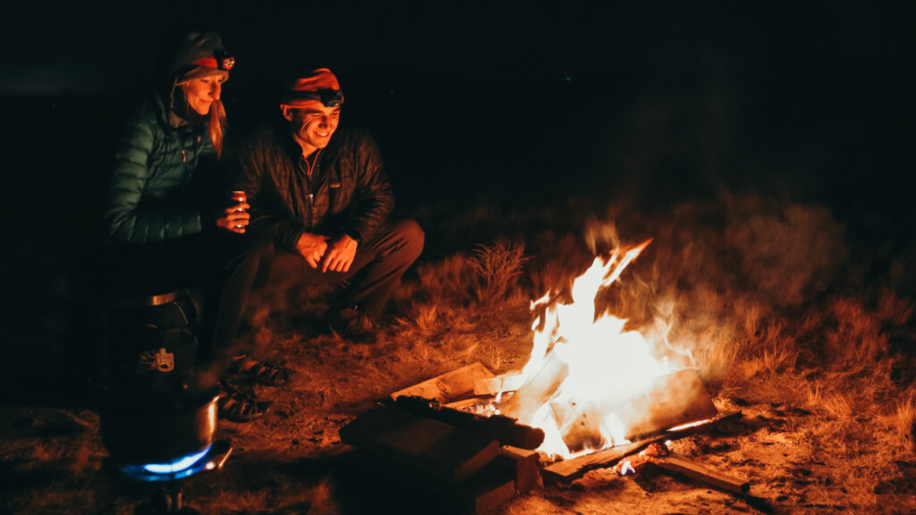 Couple's Camping in Joshua Tree