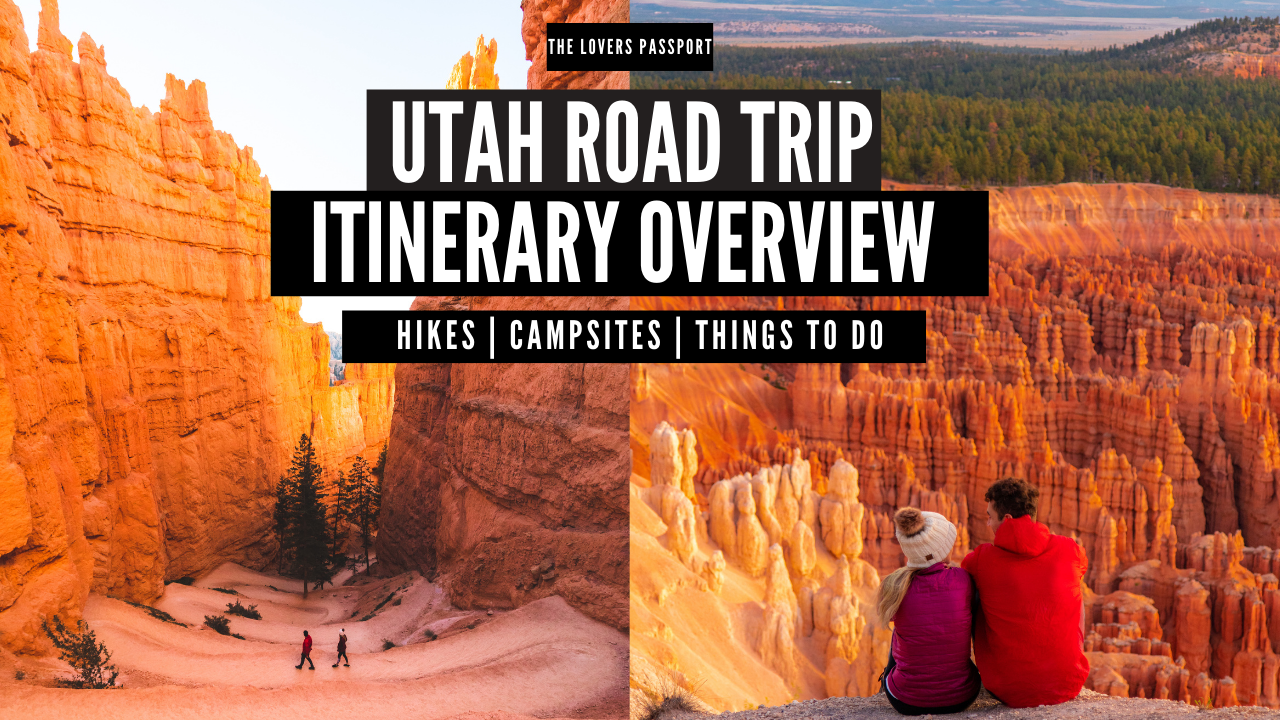 UTAH Road Trip Itinerary Overview