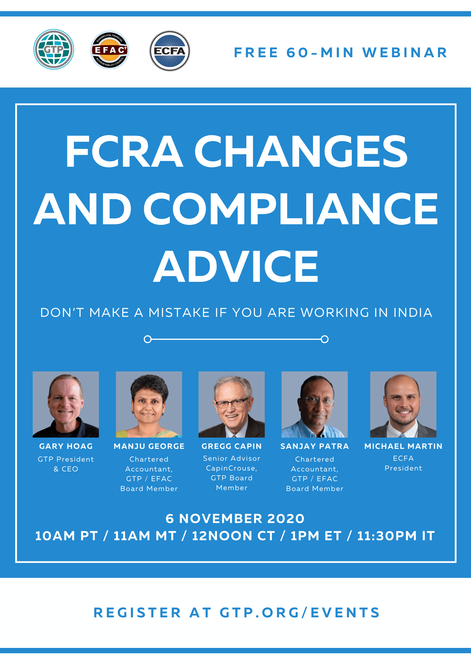 GTP-EFAC-ECFA FCRA Changes and Compliance Advice 06.11.2020