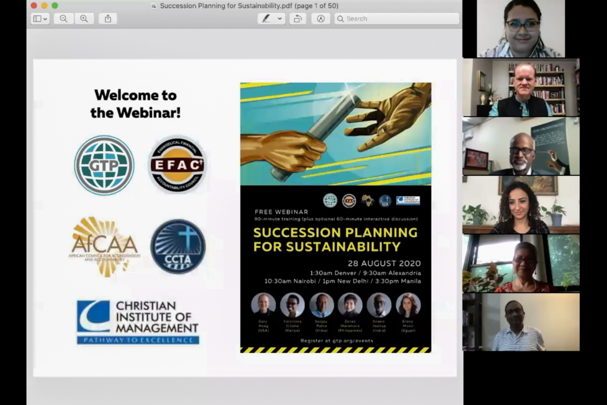 Succession Planning for Sustainability screenshot