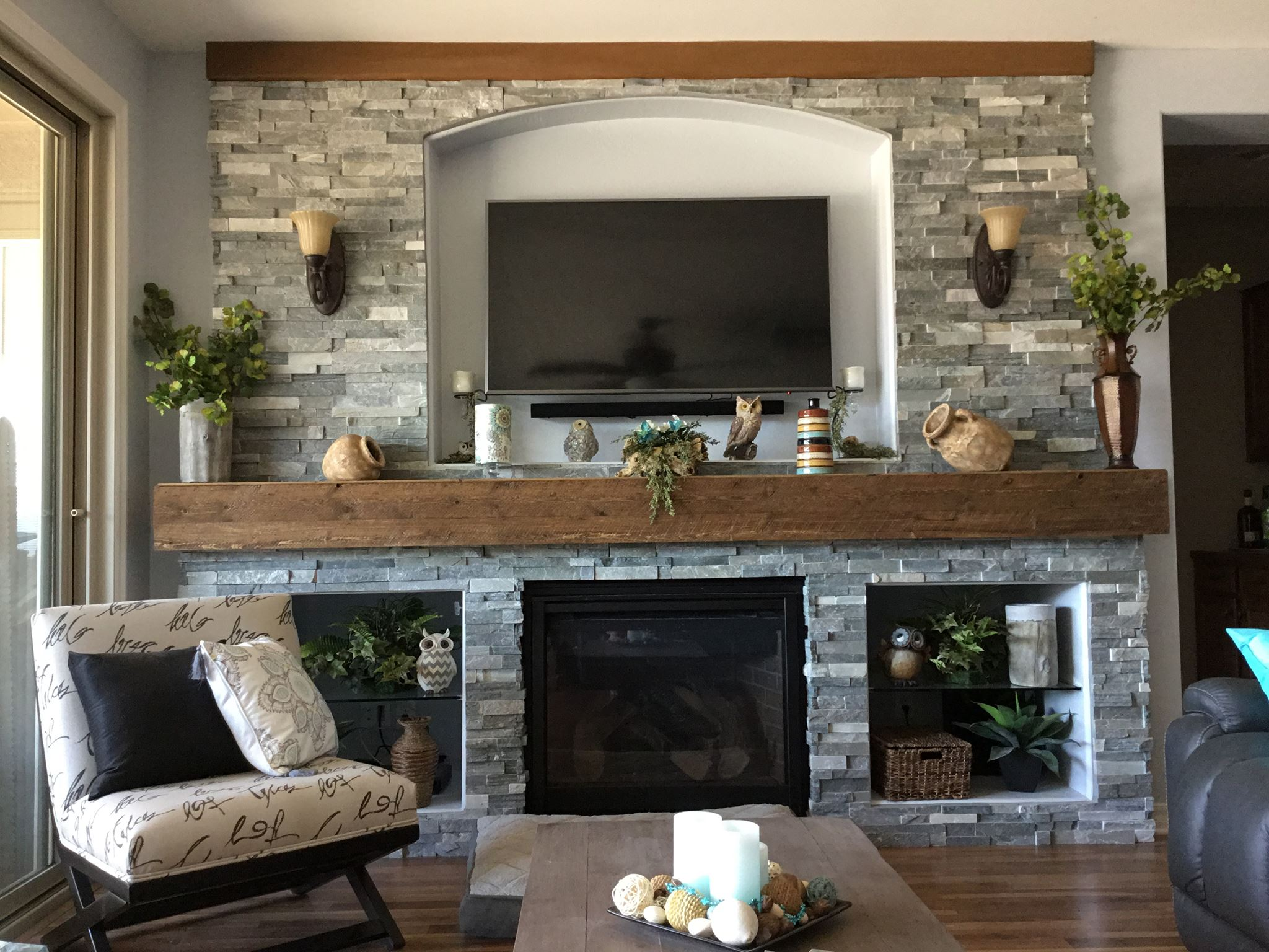 Stone Fireplace Red Mountain Flooring Arizona Services