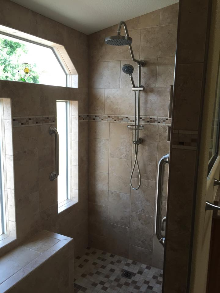shower tile conversions Red Mountain Flooring Arizona Services