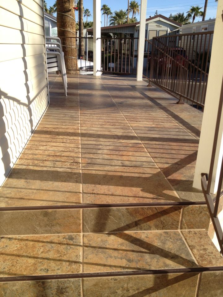 tile deck installation Red Mountain Flooring Arizona Services
