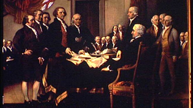 Signing of the Declaration of Independence, John Trumbull