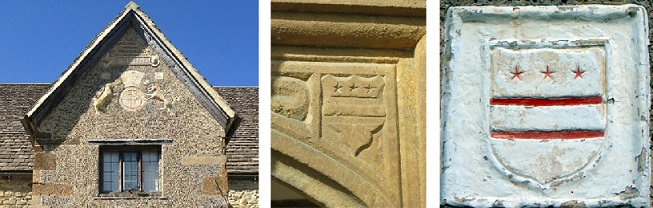 The Washington Crest over the door of Sulgrave Manor
