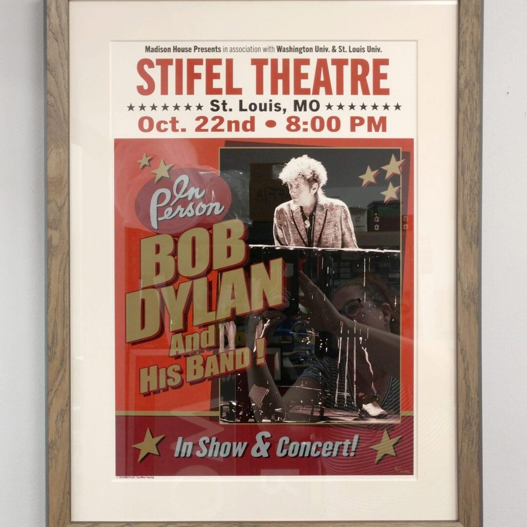 framed stifel theatre poster