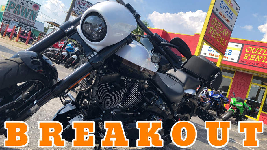 Rent Harley Davidson Harley Davidson Breakout 110 Motorcycle Rental in Panama City Beach - Outlaw Rentals